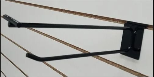 Gancho Preto Duplo Porta Etiqueta 5mm - Cx 25 Unid
