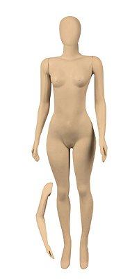 Manequim Plástico Feminino + Braço p/ Cintura - Com Cabeça - R.2245, K2245, P2245