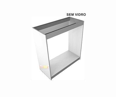 Balcão Reto Cabideiro SEM Vidro - 100 x 110 x 45 cm