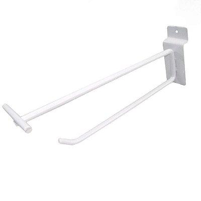Gancho Branco Duplo Porta Etiqueta 5mm