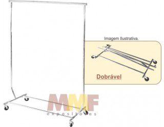 Arara Desfile Regulável C/ Prolongador Cromada - 128 até 176 x 130 até 155 x 55 cm