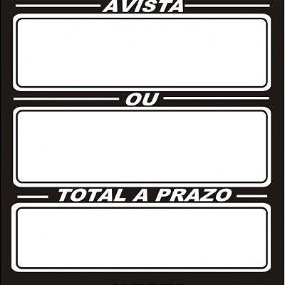 Etiqueta A vista/Prazo/Total/Juros - 36 mm x 36 mm - Pct 50 Unid