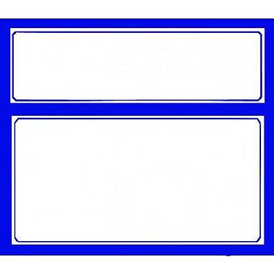 Etiqueta pvc azul - 110 mm x 95 mm
