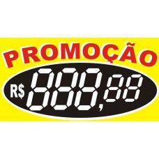 Etiqueta Promoção Preço Amarela - 70 mm x 37 mm - Pct 50 Unid.
