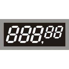Etiqueta Prata Preço C/ Digital - 55 mm x 25 mm - Pct 50 Unid.