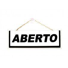 Placa Aberto/Fechado - 210mm x 70mm