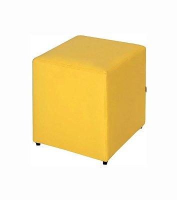 Puff Quadrado Amarelo - 35 x 45 cm