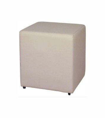 Puff Quadrado Bege - 35 x 45 cm