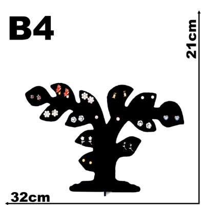 Expositor Veludo P/ Brinco Árvore Bonsai
