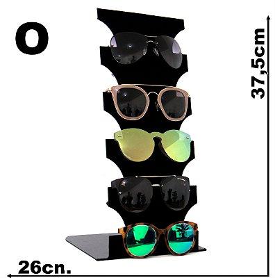 Expositor Veludo Óculos Para 5 pçs
