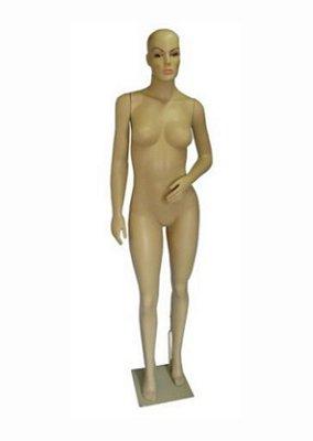 Manequim Plástico R.8081C Feminino Bege Com Cabeça