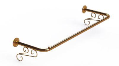 Arara Fixa de Parede Ouro Velho - 120 x 30 cm