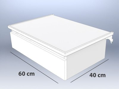 Gaveteiro Plus Pequeno MDF - 60 cm