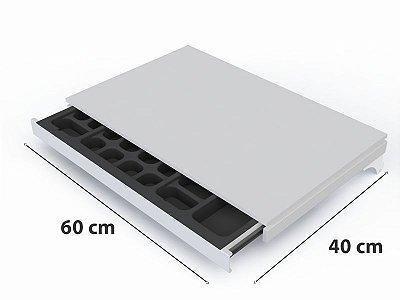 Porta Joia Retratil Com Prateleira - 60 x 41 cm