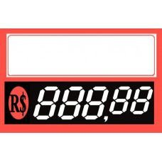 Etiqueta Dígitos Vermelha - 85 mm x 55 mm - Pct 40 Unid