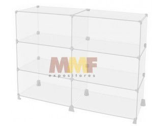 Balcão modulado de vidro - 120 x 95 x 40 cm