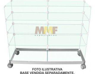 Balcão modulado de vidro - 120 x 40 x 95 cm