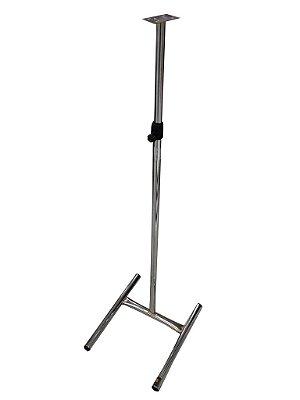 Pedestal Para Manequim De Costura Cromado - 30 x 83 até 122 x 36 cm