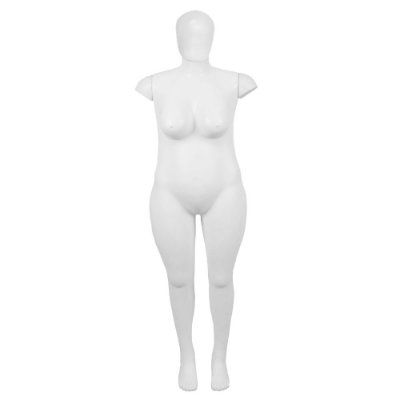 Manequim Plástico K.4991 Cabeça Ovo Feminino Plus Size