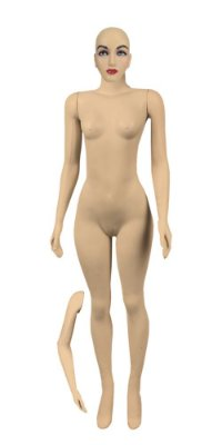 Manequim Plástico Feminino Bege + Braço p/ Cintura - R.2227