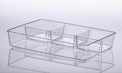 Organizador Diamond com Divisória - 34 x 6 x 24 cm