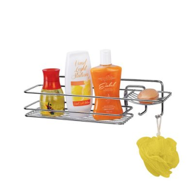 Prateleira Para Shampoo Retangular Premium - 11 x 11 x 39 cm