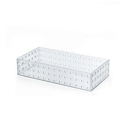 Caixa Modular 4 Em Ps Cristal - 14 x 6 x 28 cm