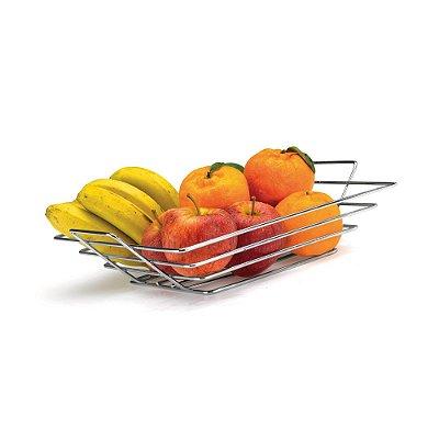 Fruteira De Mesa Quadrada - 32 x 7 x 32 cm
