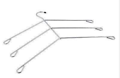 Cabide Triplo Para Camisa - Cx 06 Unid - 31 x 37 cm