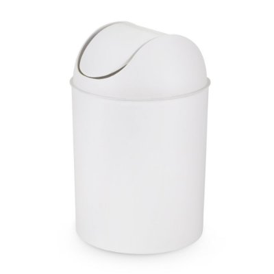 Lixeira Branca Com Tampa Basculante 10 Litros - Ø 23 x 38 cm