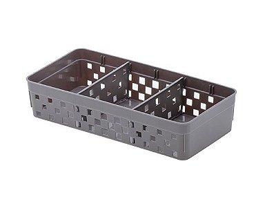 Cesto Organizador Com Divisórias - 23 x 11 cm