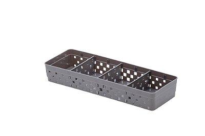 Cesto Organizador Com Divisórias Quadratta - 33 x 11 cm