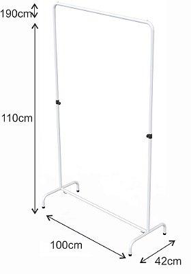 Arara Desfile Altura Regulável - 100 x 110 até 190 cm