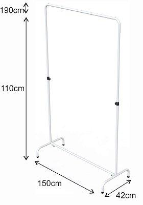 Arara Desfile Altura Regulável - 150 x 110 até 204 cm