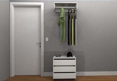 Kit Closet MDF - Cabideiro/Gaveteiro