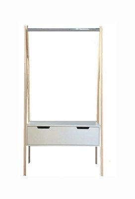 Arara Cavalete C/ Gaveta - 96 x 180 x 36 cm