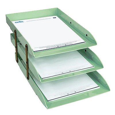 Caixa Correspondência Articulável  Tripla Verde - 35,5 x 12 x 25,3 cm