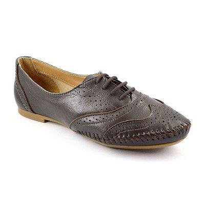 b9f30f2035 Sapato em Couro Comfort Chocolate - 15360