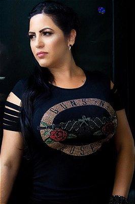 Camiseta Babylook Rock Guns n Roses