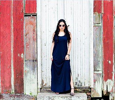 Vestido Viscolycra Califórnia Azul Marinho