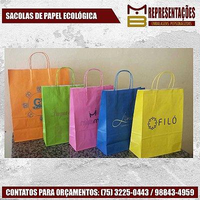 SACOLAS DE PAPEL ECOLÓGICAS - MB EMBALAGENS PERSONALIZADAS