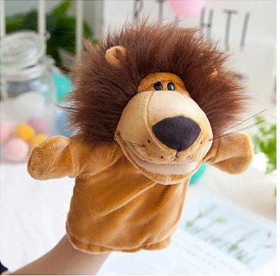 Fantoche de Mão Leão de Pelúcia 25cm