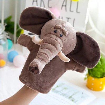 Fantoche de Mão Elefante de Pelúcia 25cm