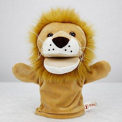 Fantoche de Mão Leão de Pelúcia 20cm