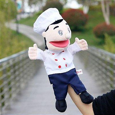 Fantoche de Cozinheiro Chef de Cozinha 35cm