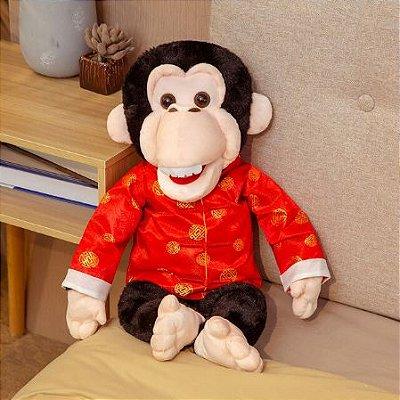 Fantoche de Pelúcia Chimpanzé 60cm
