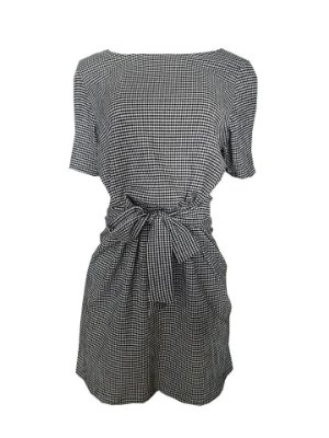 Vestido Amarração Vichy