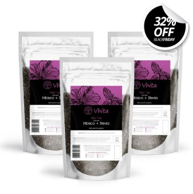 Combo 3 Hibis Tea - Chá de Hibisco com Stevia natural