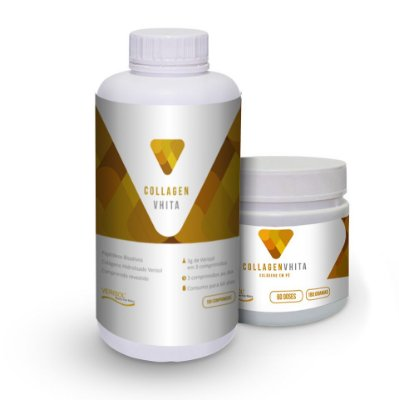 Colágeno VERISOL em cápsula ou pó: Collagen Vhita - Peptídeos bioativos para pele