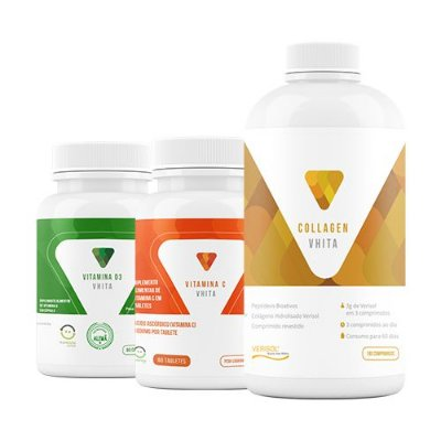 Collagen Vhita + BRINDE: Vitaminas C e D